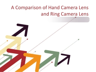 A Comparison of Hand Camera Lens and Ring Camera Lens
