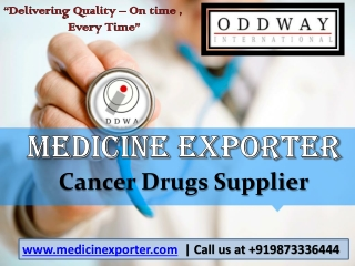 Medicine exporter and supplier