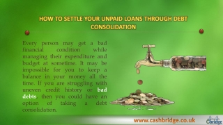 Helpful instructions of borrowing Debt Consolidation
