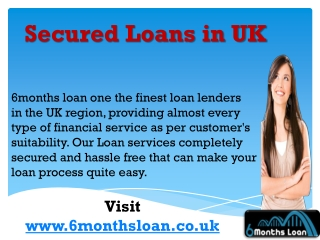 Secured Loans in UK