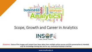Scope and Career in Analytics