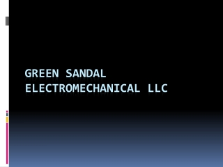 Greensandal HVAC Contractors - Dubai, Abu Dhabi UAE