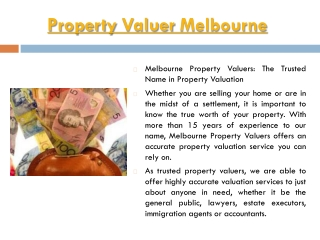 Property Valuations Melbourne