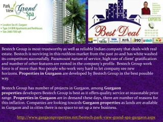 Bestech Park View Grand Spa Gurgaon