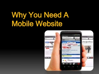 Why You Need a Mobile Website