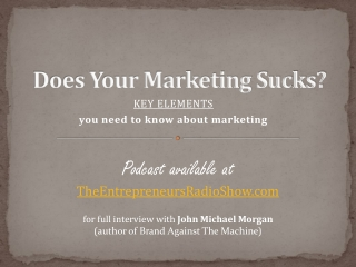 Does your marketing suck?
