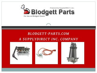 Blodgett-Parts