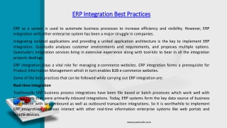 ERP Integration Overview