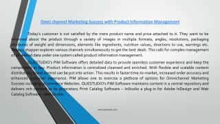 Omnichannel Marketing Success-Product Information Management