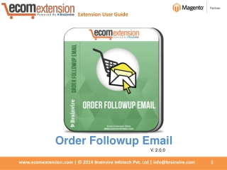Magento Order Follow up Email extension - Auto-Response E-ma