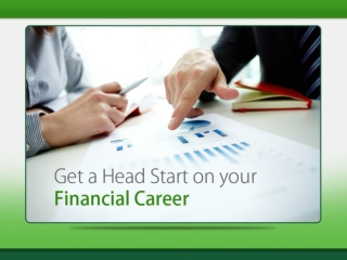Kick Starting your Financial Career