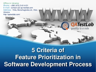 5 Criteria of Feature Prioritization in Software Development