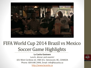 FIFA World Cup 2014 Brazil vs Mexico Soccer Game Highlights