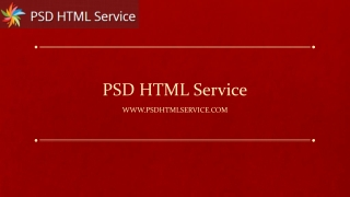 PSD HTML Service