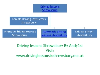 Driving lessons Shrewsbury By Andy1st