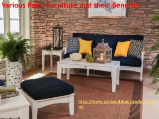 Various Patio Furniture and their Benefits