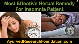 Most Effective Herbal Remedy For Insomnia Patient