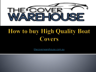How to buy High Quality Boat Covers?