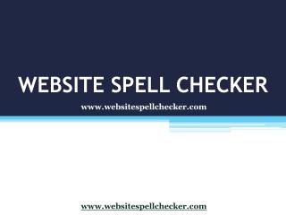 Website Spell Checker