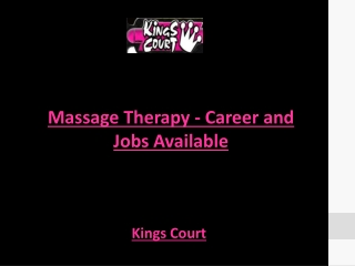 Massage Therapy - Career and Jobs Available