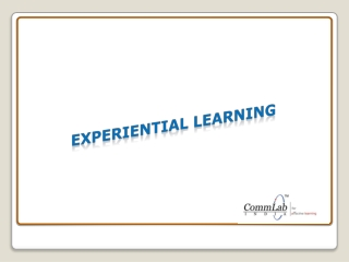 Experiential Learning - An Effective Learning Method