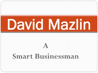David Mazlin - Smart Businessman
