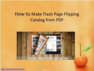 How to Convert PDF to Flash Catalog with Page Turn