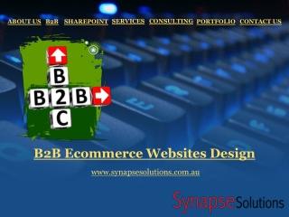 B2B Ecommerce Websites Design