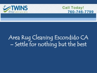 Area Rug Cleaning Escondido CA Settle for nothing but best