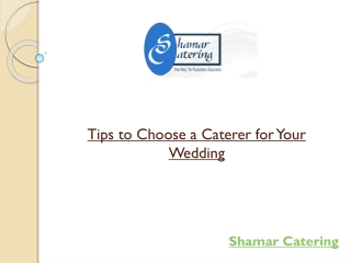 Tips to Choose a Caterer for Your Wedding