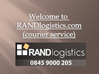 RANDlogistics-Guaranteed door-to-door delivery