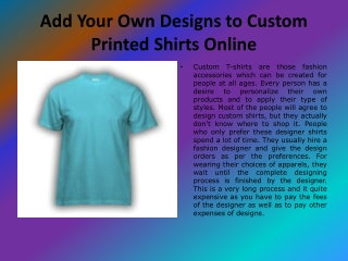 Make Custom Shirts