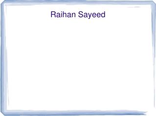 Raihan Sayeed