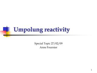 Umpolung reactivity