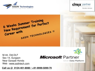 6 weeks Summer Training on java / Dot Net / PHP