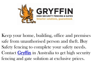 GRYFFIN- Security Equipments