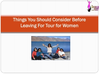 Tour for women