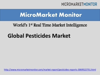 Global Pesticides Market Report