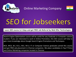 SEO institute, SEO training institute, SEO courses chennai