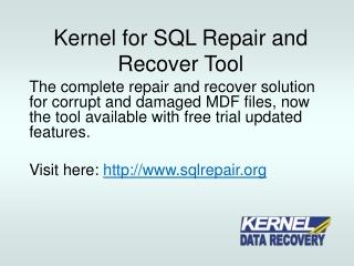 How to repair SQL Server database?