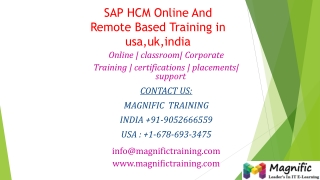 SAP HCM Online And Remote Based Training in usa,uk,india
