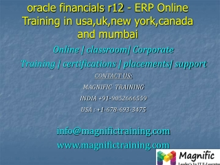 oracle financials r12 - ERP Online Training in usa,uk,new yo