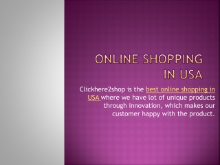 best online shopping in usa