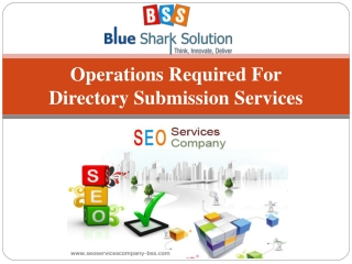 Operations required for directory submission services: