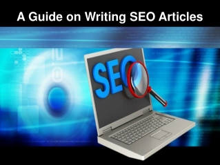A Guide on Writing SEO Articles