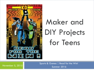 Maker and DIY Projects for Teens