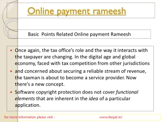 News and event for online payment rameesh
