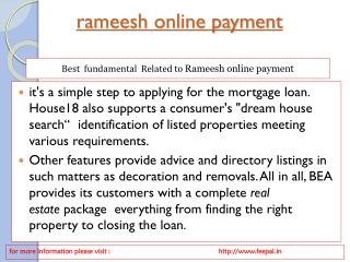 online payment services of rameesh online payment