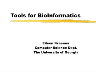 Tools for BioInformatics