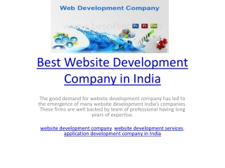 Best Website Development Company in India